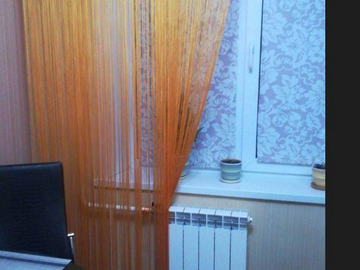Нитяные шторы на кухне - 35 реальных фото в интерьере