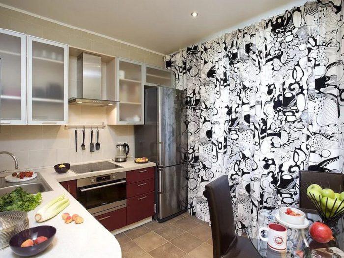 Дизайн комбинированных обоев на кухне - 37 фото с крутыми сочетаниями