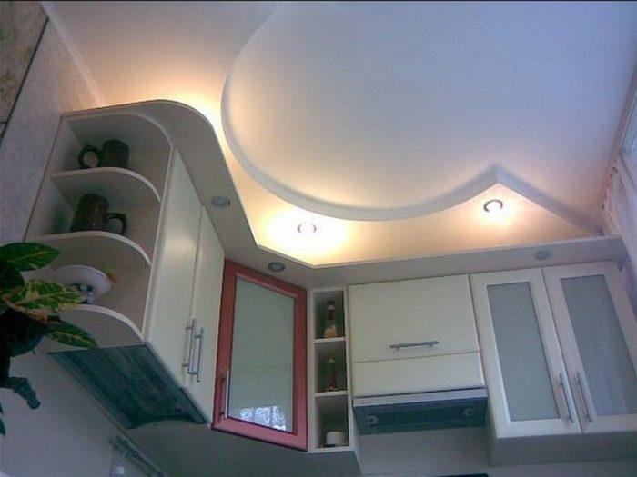 Потолки из гипсокартона для кухни - 35 фото с интересным дизайном